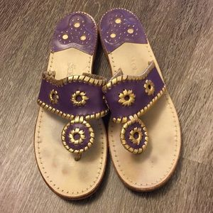 Purple and Gold Jack Rogers